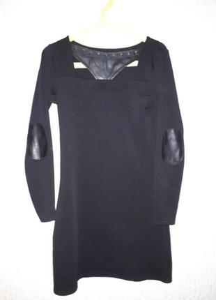 Платье с кожанными налокотниками1 фото