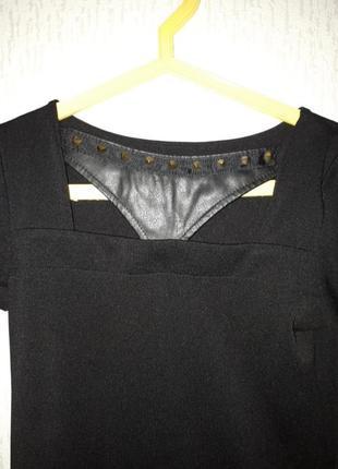 Платье с кожанными налокотниками2 фото