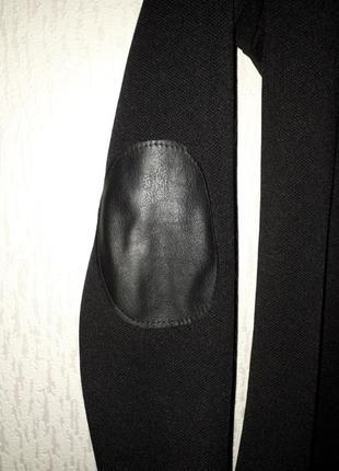 Платье с кожанными налокотниками3 фото