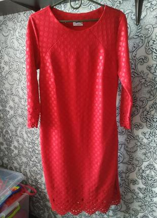 Платье красное1 фото