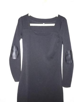 Платье с кожанными налокотниками4 фото