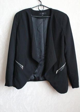 Черный жакет пиджак хл 42 50 размер h&m2 фото