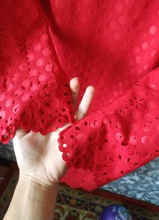 Платье красное2 фото