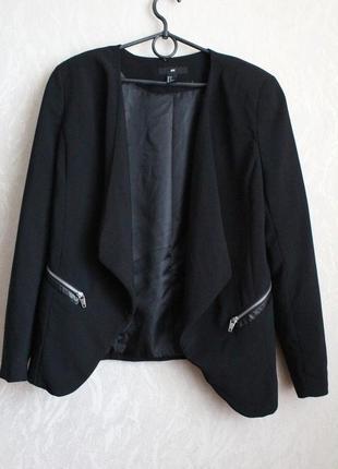 Черный жакет пиджак хл 42 50 размер h&m1 фото