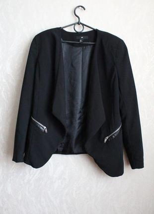 Черный жакет пиджак хл 42 50 размер h&m3 фото