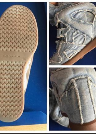 Джинсовые кроссовки isabel marant. оригинал.10 фото