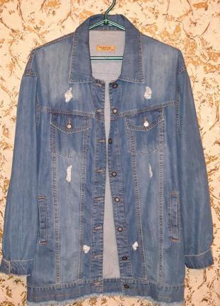 Удлиненная джинсовка1 фото