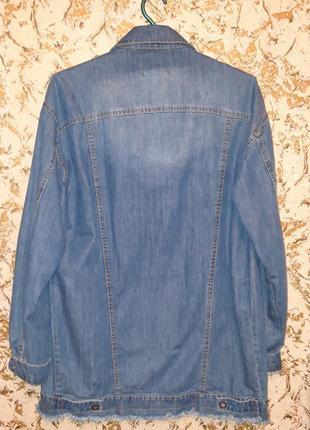 Удлиненная джинсовка2 фото