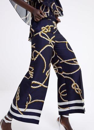 Стильные кюлоты брюки от zara2 фото