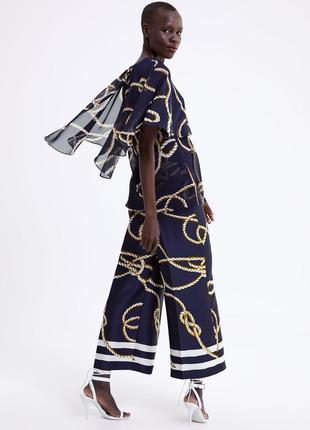 Стильные кюлоты брюки от zara1 фото