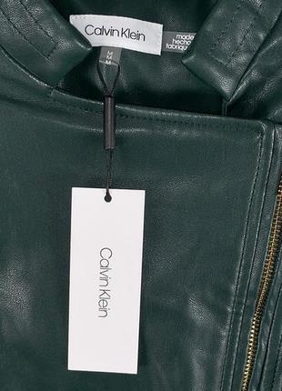 Темно-зеленая куртка calvin klein3 фото