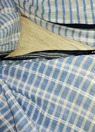 Полосатый голубой палантин шарф zara7 фото