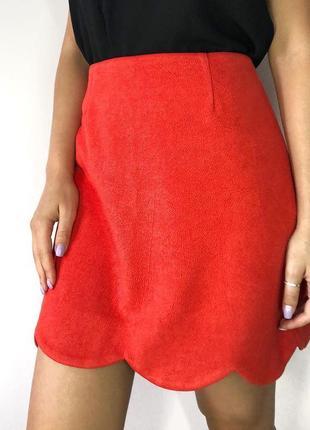 Актуальная яркая юбка под замш от river island1 фото