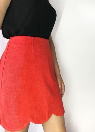 Актуальная яркая юбка под замш от river island2 фото