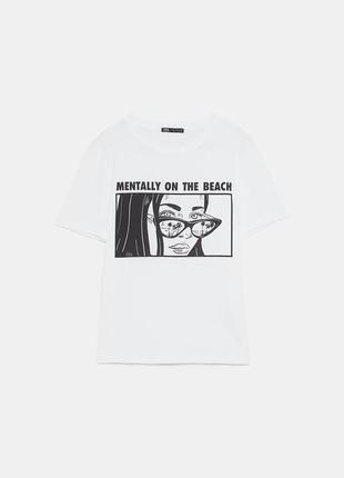 Монохромная арт футболка zara комиксы m-l6 фото
