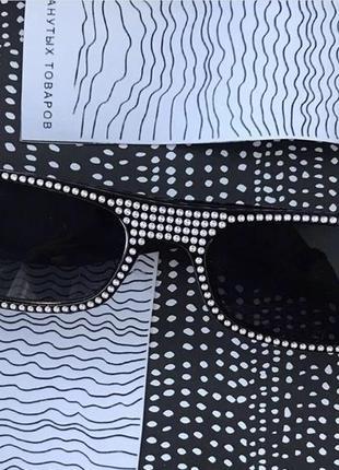Фешн очки со стразиками! с бриллиантами 😁1 фото