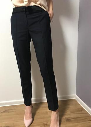 Синие брюки mango suite1 фото