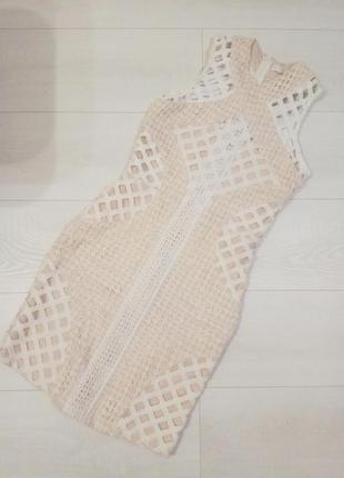 Шикарное ажурное кружевное платье missguided3 фото