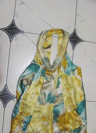 Шикарное платье лето шелк2 фото