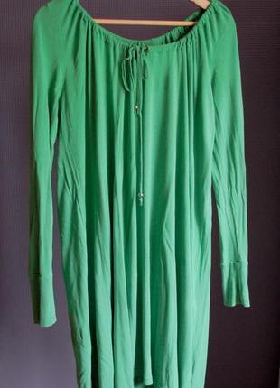 Зеленое платье солнцеклеш2 фото