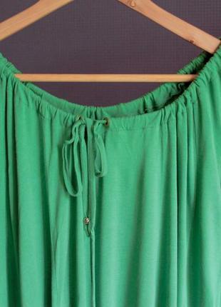 Зеленое платье солнцеклеш