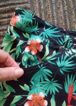 Яркая хлопковая юбка большого размера 54-563 фото