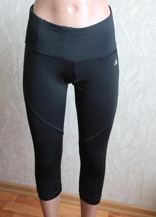 Черные спортивные капри адидас 34 размер хс adidas1 фото