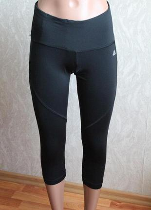 Черные спортивные капри адидас 34 размер хс adidas2 фото