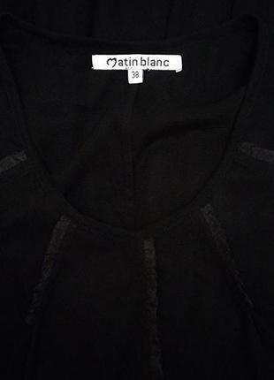 Matin blanc, платье прозрачное сетка накидка черная2 фото
