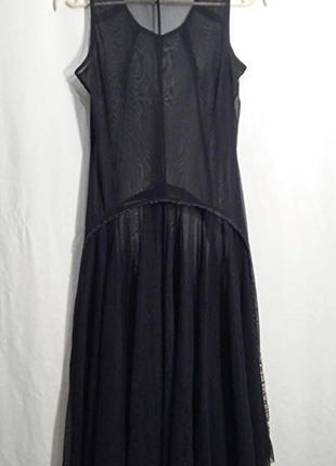Matin blanc, платье прозрачное сетка накидка черная3 фото