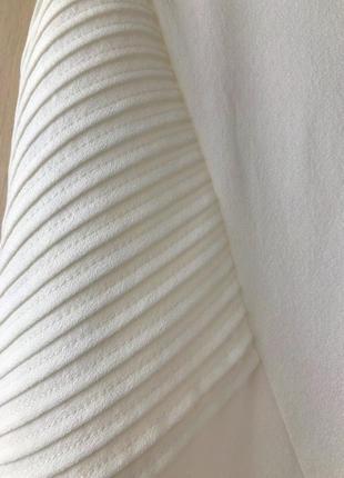 Белое платье promod с плиссированными вставками, s, m, l3 фото