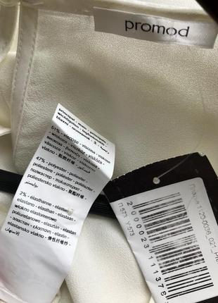 Белое платье promod с плиссированными вставками, s, m, l5 фото