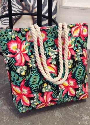 Пляжная сумка с тропическим принтом