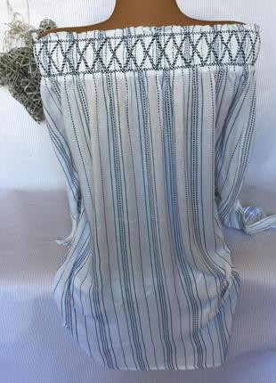Воздушная блуза без плечей4 фото