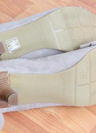 Бежевые замшевые туфли 37 37.5 размер натур.замша туфли с бантом5 фото