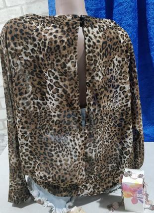 Леопардовая блузка с открытой спиной2 фото