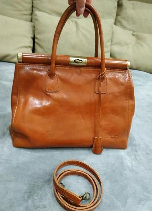 Трендовая кожаная сумка1 фото