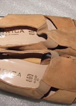 Босоножки полностью натуральная кожа ~hirica~ франция  новые р 39-406 фото