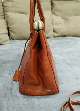 Трендовая кожаная сумка3 фото