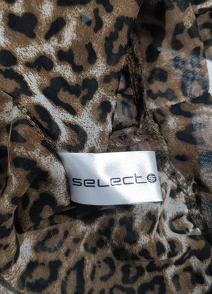 Леопардовая блузка с открытой спиной7 фото