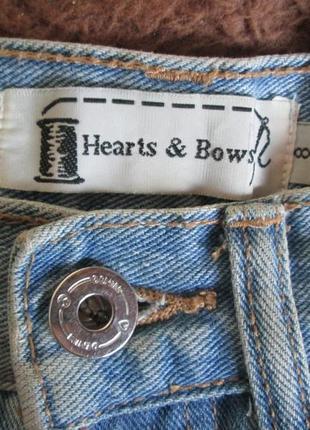 Шипованные джинсовые шорты hearts & bows4 фото