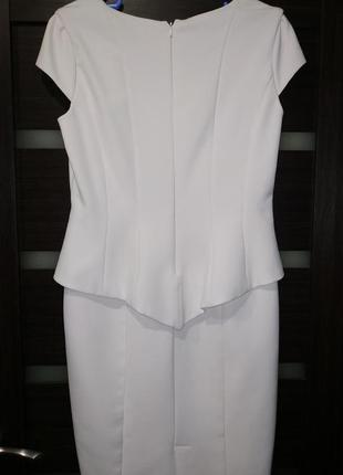 Элегантное платье футляр, свадебное2 фото