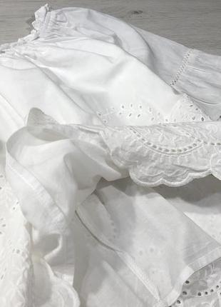 Хлопковая блуза с прошвы на плечи new look3 фото