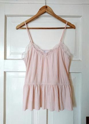 Трендова гофрована блуза/топ в білизняному стилі від amisu, на р. m/l2 фото