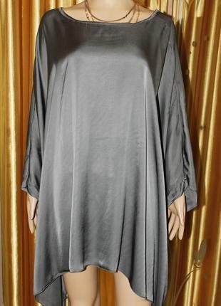 Красивая свободная  блуза из вискозы с шелком2 фото