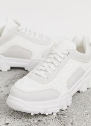 Кроссовки белые новые asos3 фото