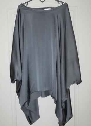Красивая свободная  блуза из вискозы с шелком1 фото
