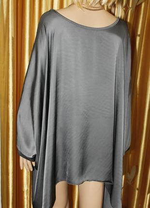 Красивая свободная  блуза из вискозы с шелком4 фото