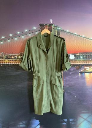 Зелёное винтажное платье милитари ретро2 фото