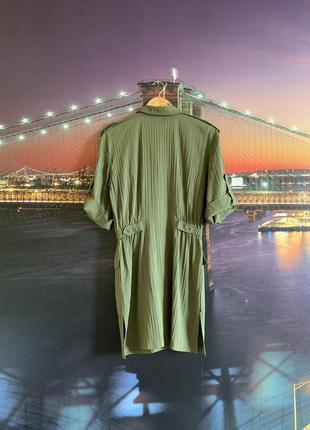 Зелёное винтажное платье милитари ретро3 фото
